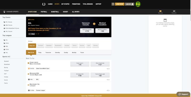 Caesars Homepage