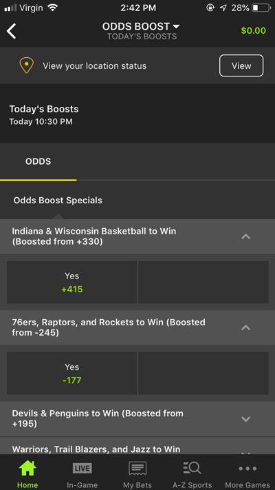 Daily Odds Boost