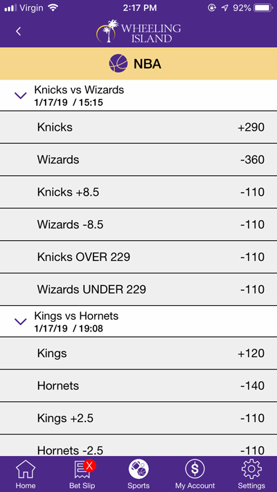 Bets Offered NBA