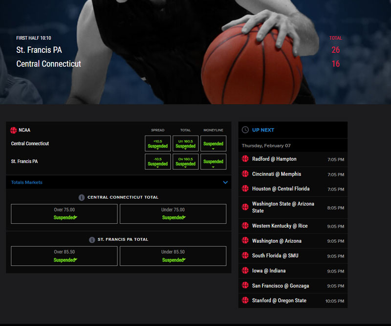 Live Betting   NCAAB