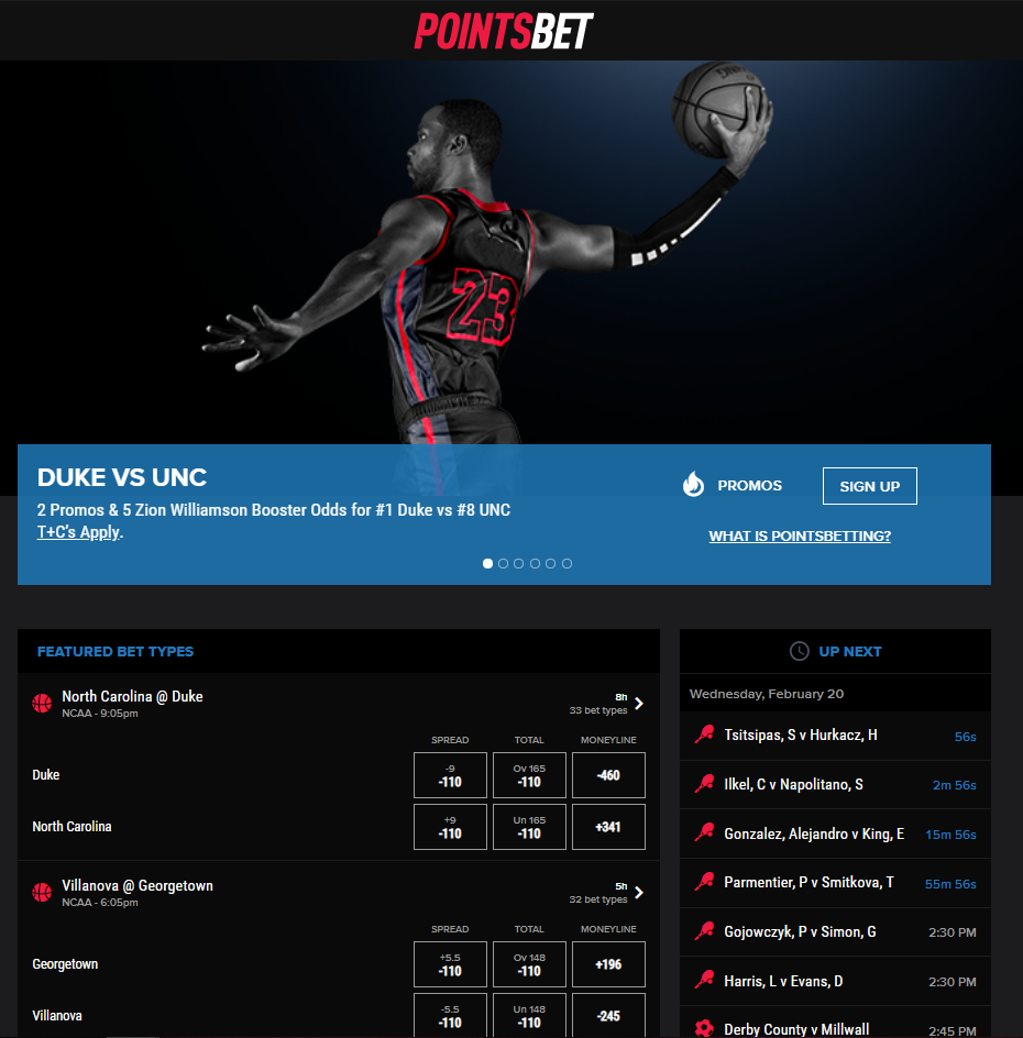 PointsBet Homepage