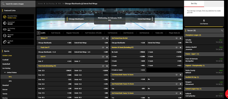 NHL Bets Offered