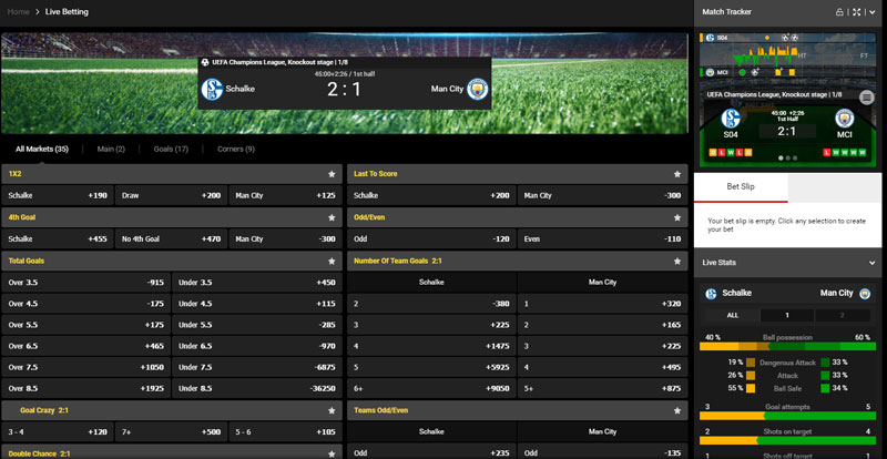 Live Betting Soccer