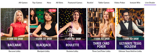 Hard Rock Online Casino Live Table Games