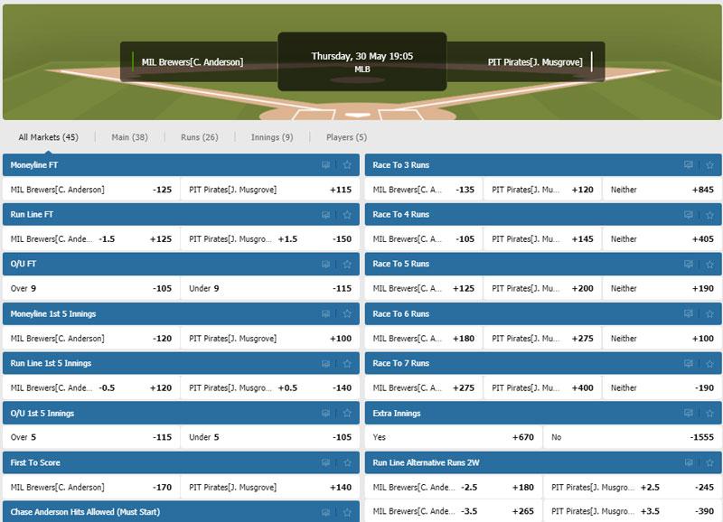 MLB bets
