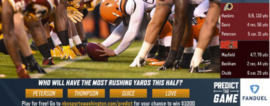 Redskins Watch and Win