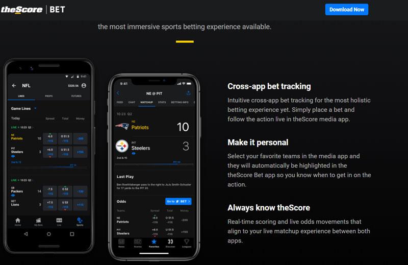 theScore Bet Cross App