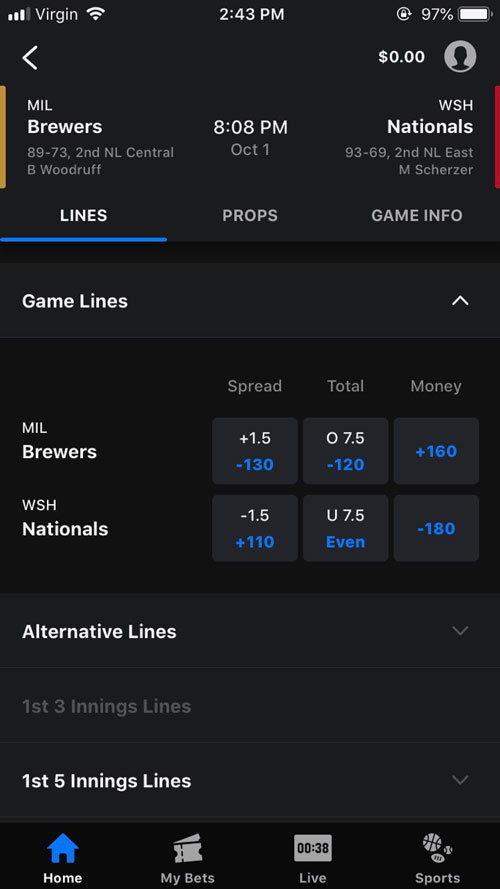 theScore Bet Bets Offered