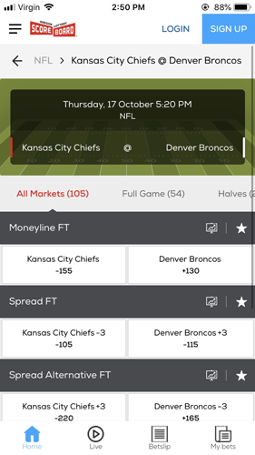 Mobile Betting View
