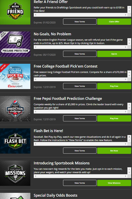 DraftKings Promotions