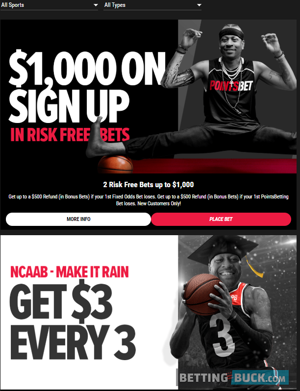 PointsBet Promotions March 2020