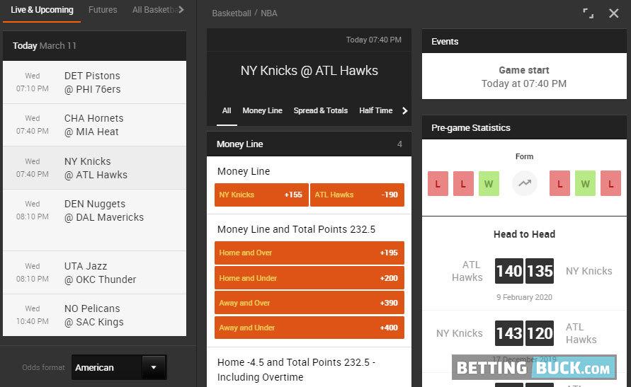 888sport NBA Bets