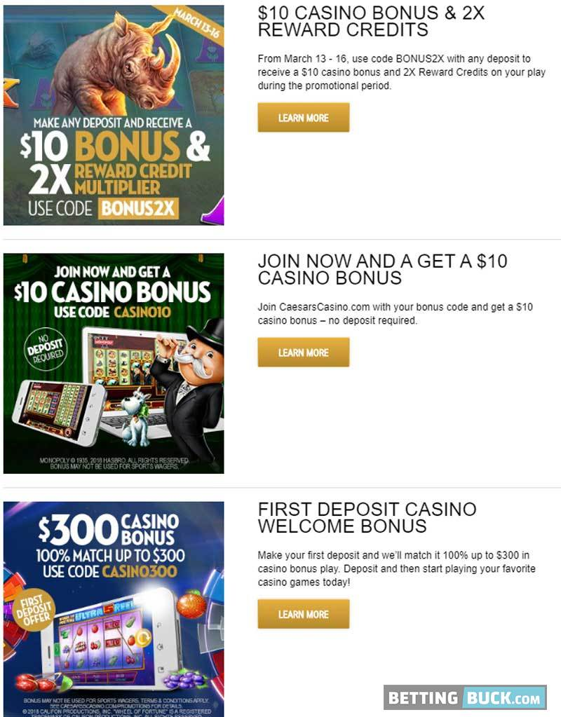 Caesars Promotions March 2020
