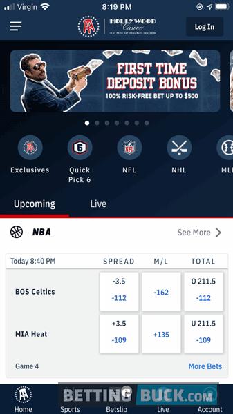 Barstool Sportsbook App Homepage