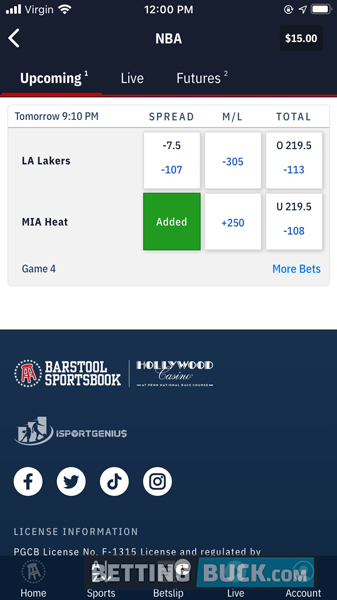 Add your bet(s) to the betslip