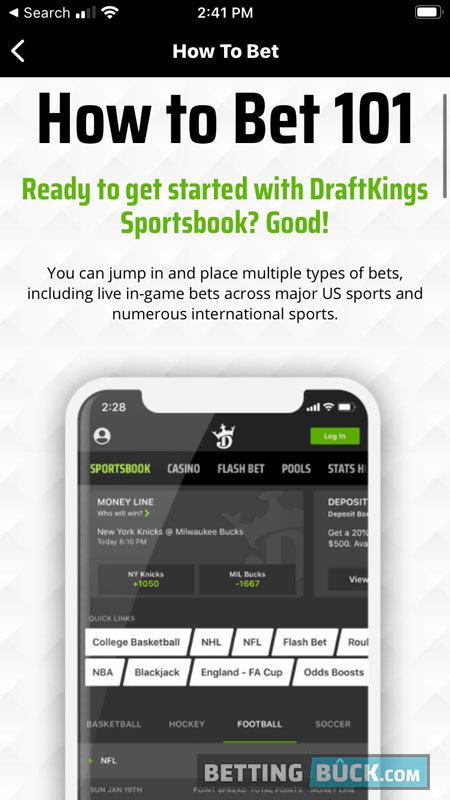 DraftKings Sportsbook Education