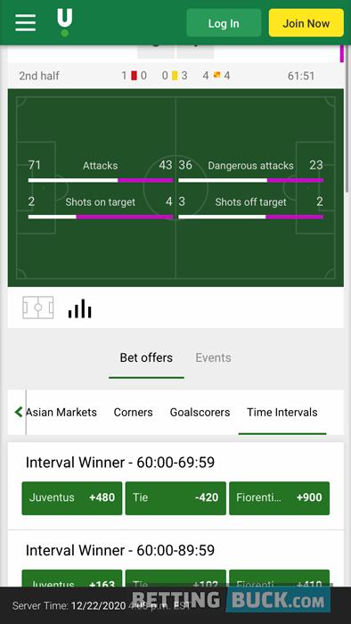 Unibet Live Match Tracker Soccer Stats