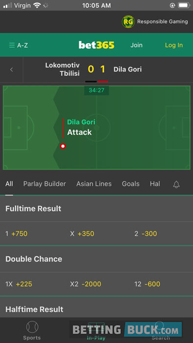 bet365 Live Betting Soccer