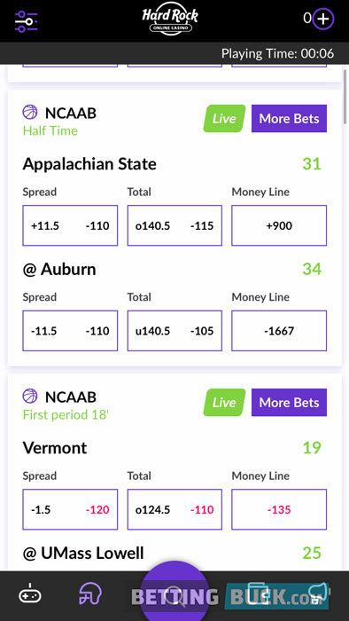 Hard Rock Sportsbok live betting
