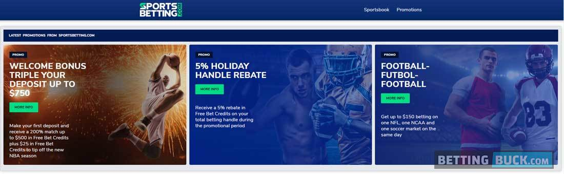 SportsBetting.com promotions
