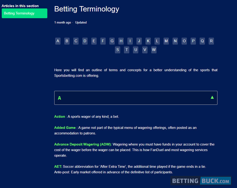 SportsBetting.com education