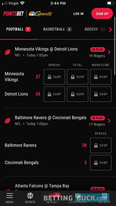 PointsBet NFL prop bets