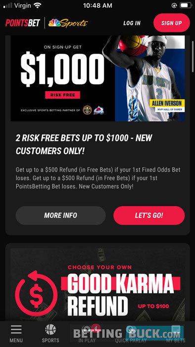 PointsBet promotions