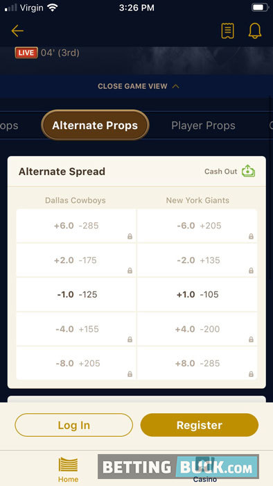 WynnBET NFL bets