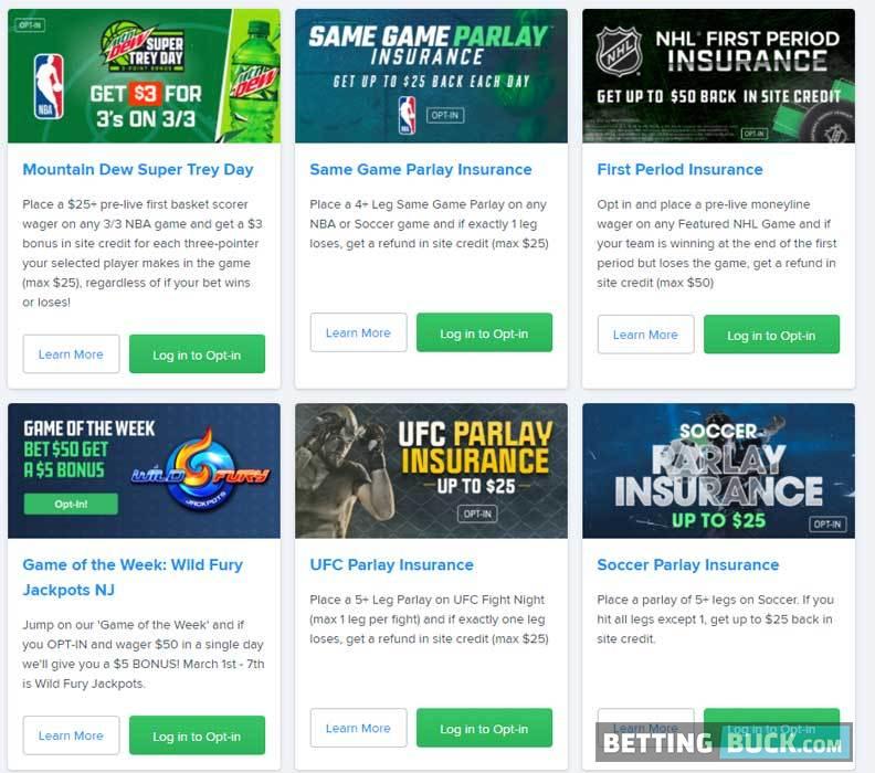 FanDuel Sportsbook promotions