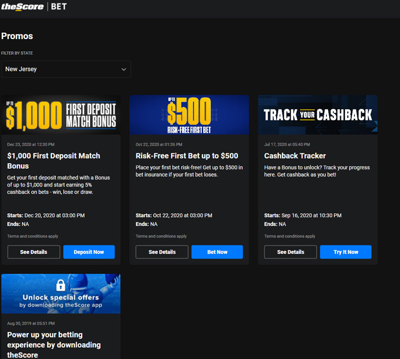 theScore Bet promotions